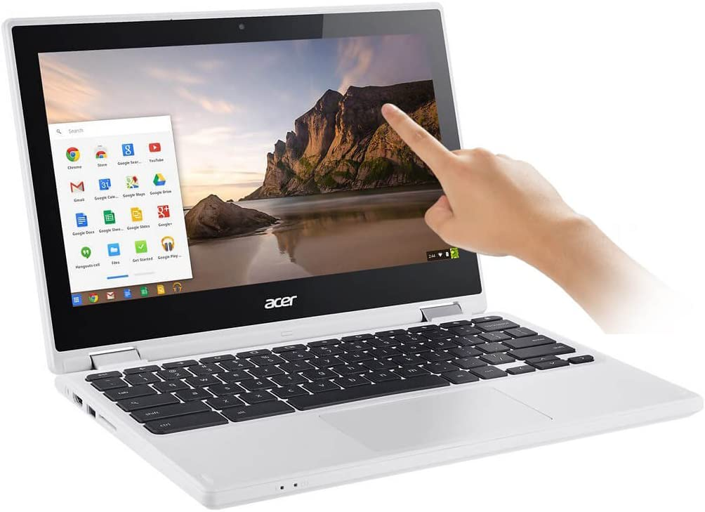 "Acer - R 11 CB5-132T-C8ZW 2-in-1 11.6"" Touch-Screen Chromebook - Intel Celeron - 4GB Memory - 16GB eMMC Flash Memory - White"