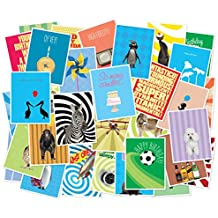 Set of 36 Unique Birthday Cards With Inside Greetings