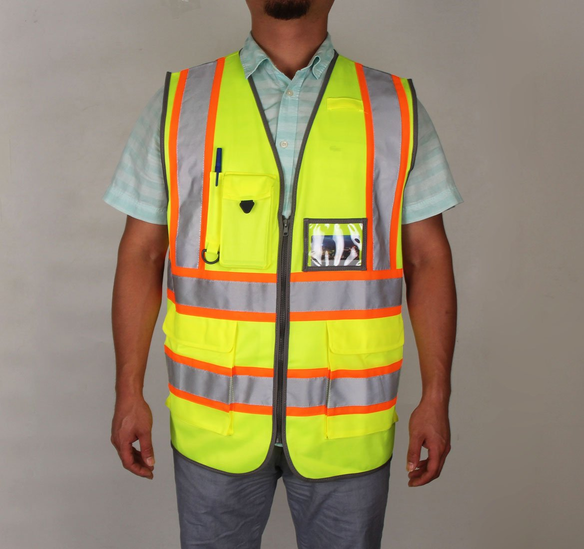 SHORFUNE 1119U High Visibility Reflective Safety Vest with