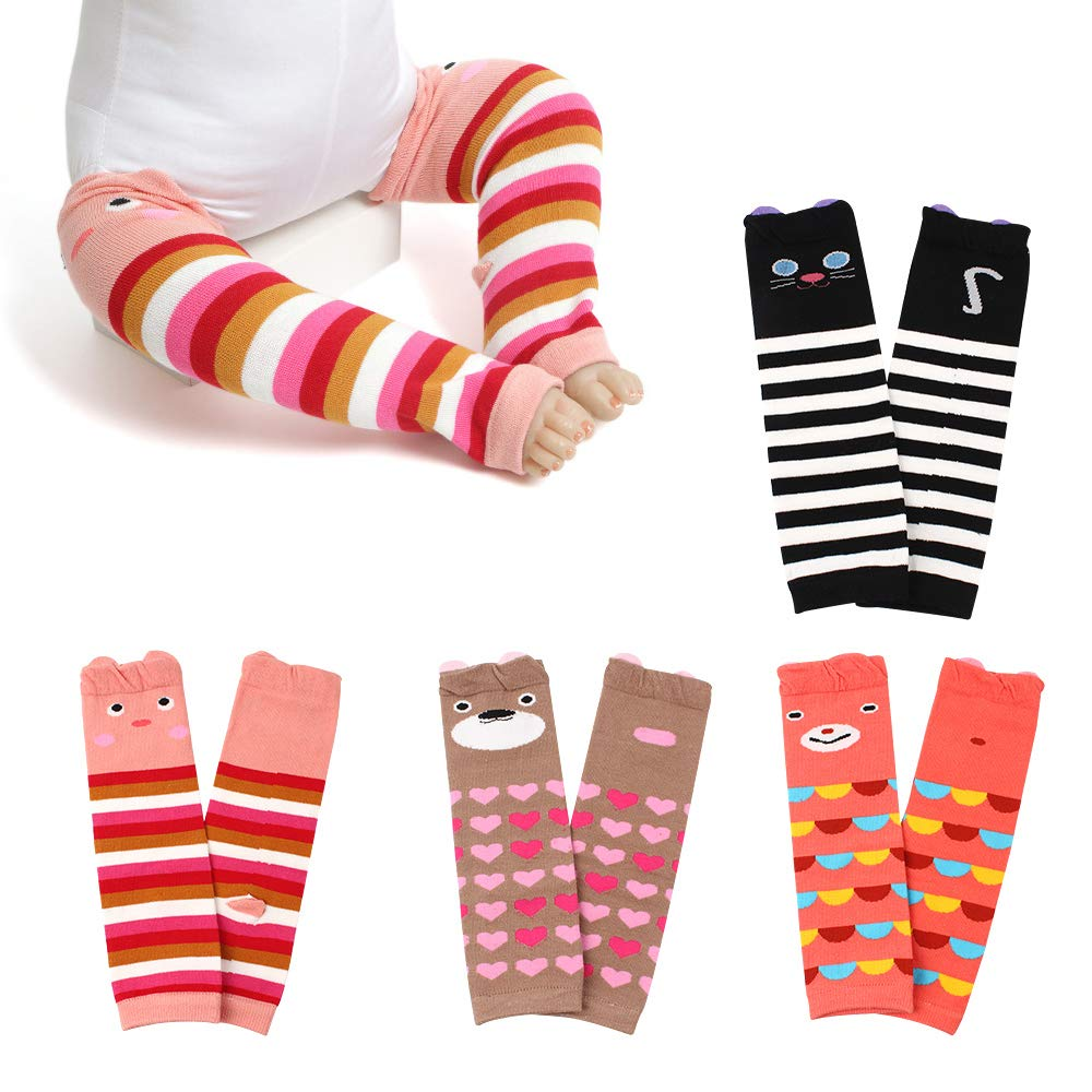 WeddingPach Baby Leg Warmers Toddler Boys Girls Cotton Leggings Kneepads for Crawling Warming 4 Pack (Color1)
