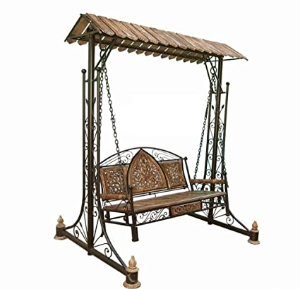 d43dc573908 Shilpi Wooden Iron   Swings Jhoola for Home   Garden Floor-Standing   Amazon.in  Electronics