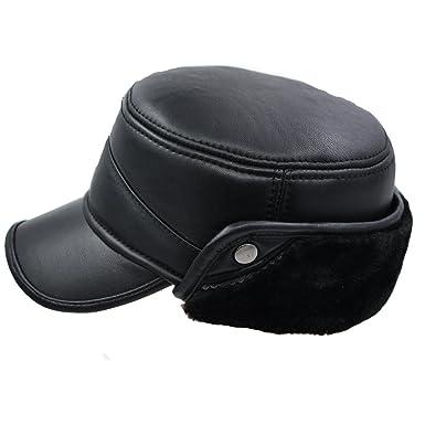 111874cac IFSUN Men Winter Lambskin Baseball Earflaps Fleece Earmuffs Cap ...