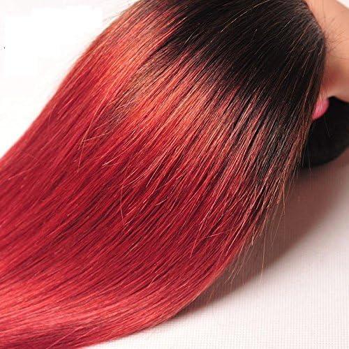 Meylee Postizos Ombre recta larga Color degradado cabello ...
