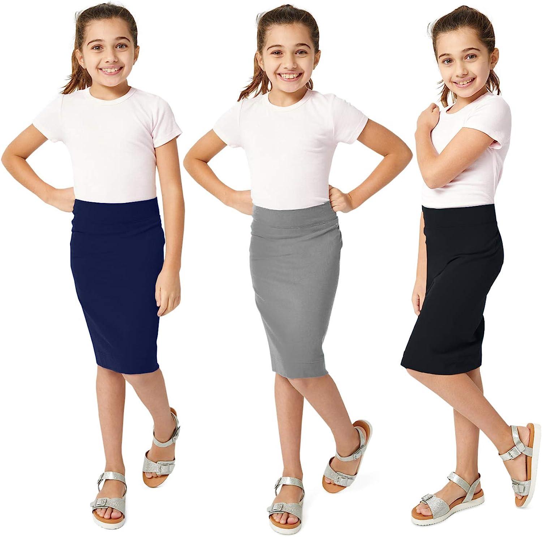 CHILDRENS GIRLS KIDS NEW BLACK PENCIL SKIRT SCHOOL AGES 7 8 9 10 11 12 13 YEARS