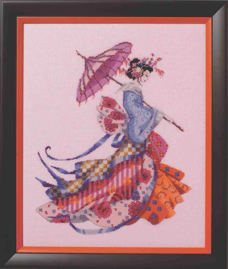 Amazon com: Miss Cherry Blossom LINEN Kit Beaded Counted