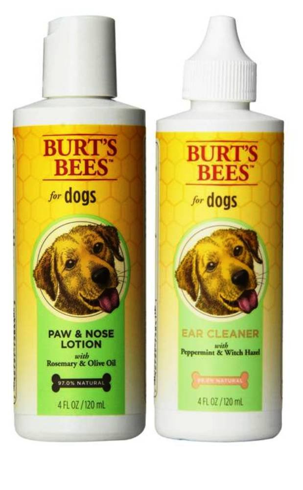 Burt's Bees For Dogs Grooming Bundle: (1) Burt's Bees Paw & Nose Lotion With Rosemary Oil, and (1) Burt's Bees Ear Cleaner With Peppermint & Witch Hazel, 4 Oz. Ea.