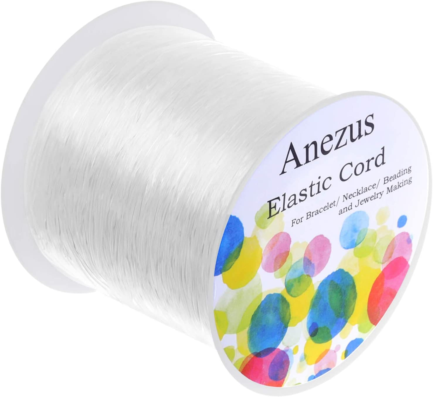 Amazon Com Elastic String For Bracelets Anezus 0 7mm Elastic