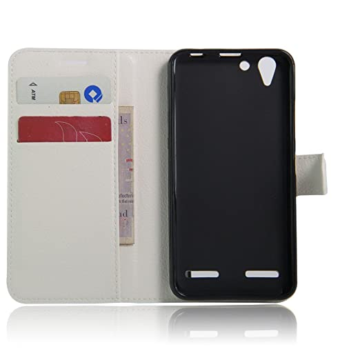 15 opinioni per Lenovo Vibe K5 Wallet Cover, SMTR Custodia In Pelle Con Wallet Case Cover Per