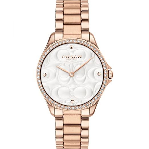 Coach Reloj Deportivo Moderno para Mujer en Oro Rosa 14503072: Amazon.es: Relojes