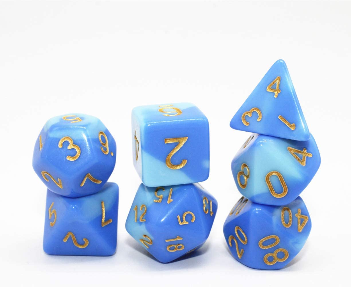 HD Dice DND RPG Marble Dice Set Fit Dungeons and Dragons Red /& White D/&D Pathfinder Role Playing Games Polyhedral Dice D20 D12 D10 D8 D6 D4 /%D