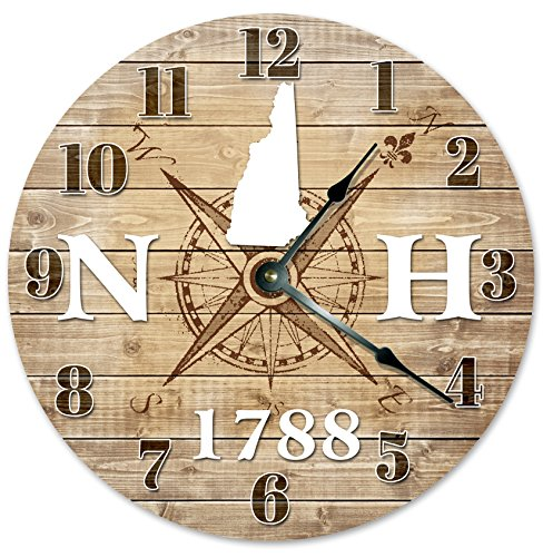 NEW HAMPSHIRE CLOCK Established in 1788 Decorative Round Wall Clock Home Decor Large 10.5