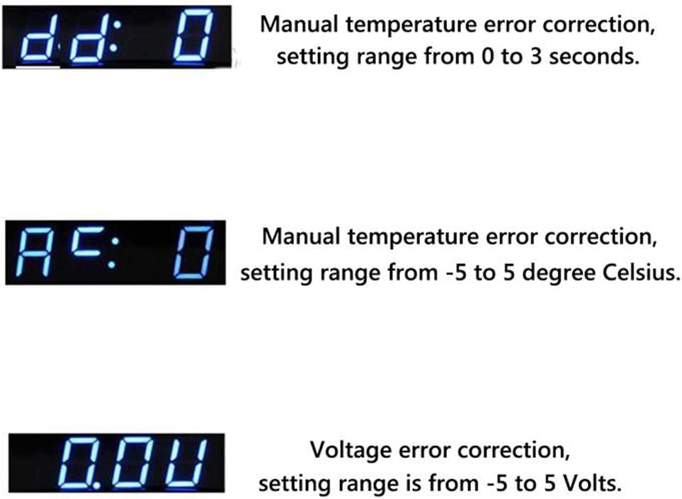 PolarLander 12V 3 in 1 Digital LED Car Clock Termometro Voltmetro Monitoraggio della Temperatura di Tensione