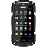 Hipipooo-Discovery V8 Waterproof Dustproof Shakeproof Smartphone Rugged Android 4.4 3G Unlocked Mobile Phone 4.0 inch Mtk6572 Dual-Core,Dual SIM Card Slot(Black)