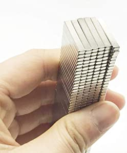 40-Piece 20x3x2mm rectangular magnet for refrigerators, craft items, whiteboards, DIY projects, office magnets, rectangular magnets.-Hmikci
