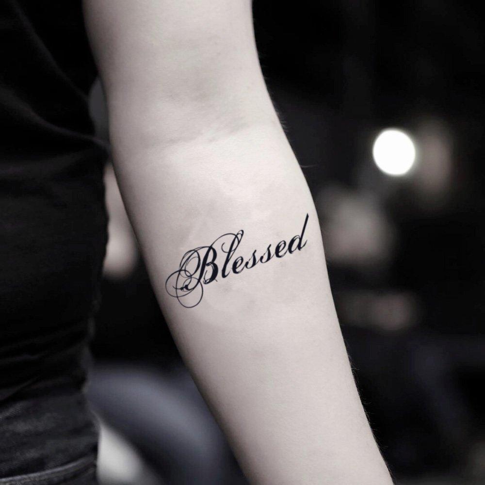 Tatuaje Temporal de Palabra bendita (2 Piezas) - www.ohmytat.com ...