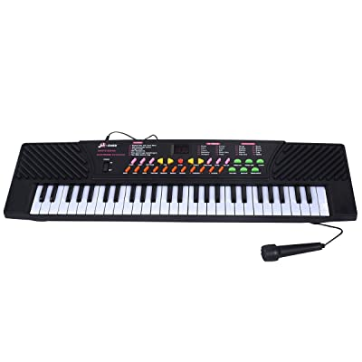 New 54 Keys Music Electronic Keyboard Kid Electric Piano Organ W/Mic & Adapter, This Keyboard Is Definitely The Best Gift For Your Children, External Speaker/Microphone/DC/AC Powe: Toys & Games