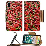 dry chilies - MSD Premium Apple iPhone X Flip Pu Leather Wallet Case Pile of fresh organic juicy red spicy small chilies at vegetables market Image ID 24678842