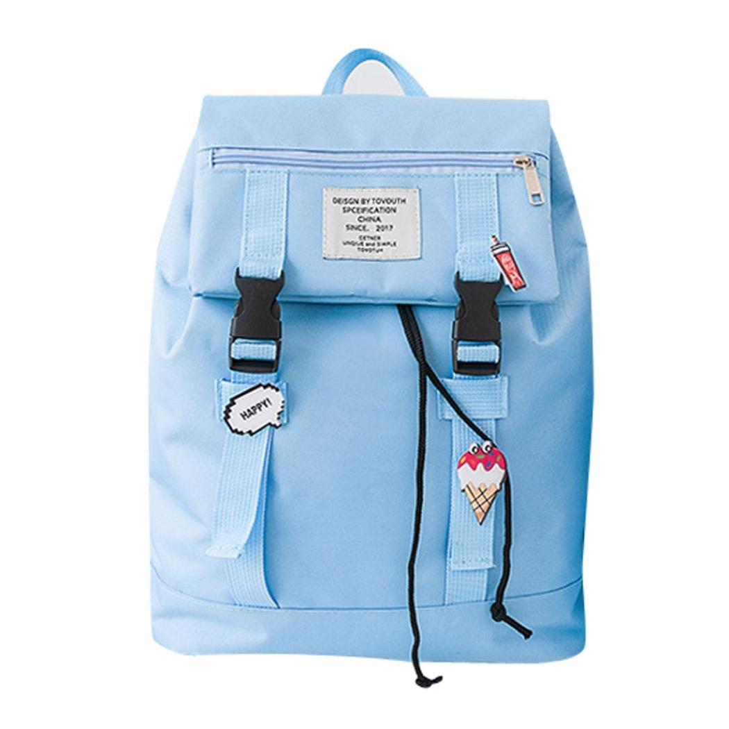 SUKEQ Women Family Matching Backpack, College Backpack, Kids Preppy Student School Bag, Large Capacity Travel Backpack Bag, Laptop Backpack (Large, Sky Bule)