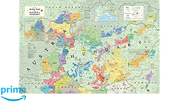 Wine Map of Austria and Hungary: Steve De Long ...