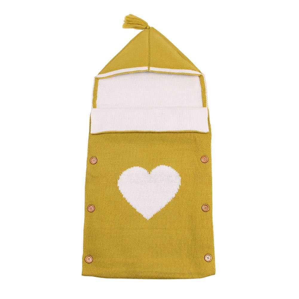 Lvbeis Neonato Swaddle Sacco Wrap Sacchi A Pelo Uncinetto con Cappuccio Coperta Passeggino Sacchetto di Sonno Nanna Bambini Per0-12 Mese
