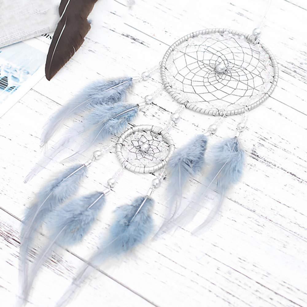 Amaone Attrape R/êves Indien Dream Catcher Handemade Attrape-r/êves Capteur de R/êves en Plumes pour D/écoration Chambre Voiture Maison