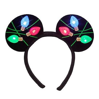 Amazoncom Disney Park Light Up Minnie Ears Christmas Party