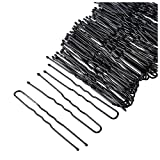 Hair Pins - 640-Count U-Shaped Hairpins, Bun Bobby Pins, Hair Clips for Updo Hairstyles, Hair Styling Accessories, Black, 2 Inches
