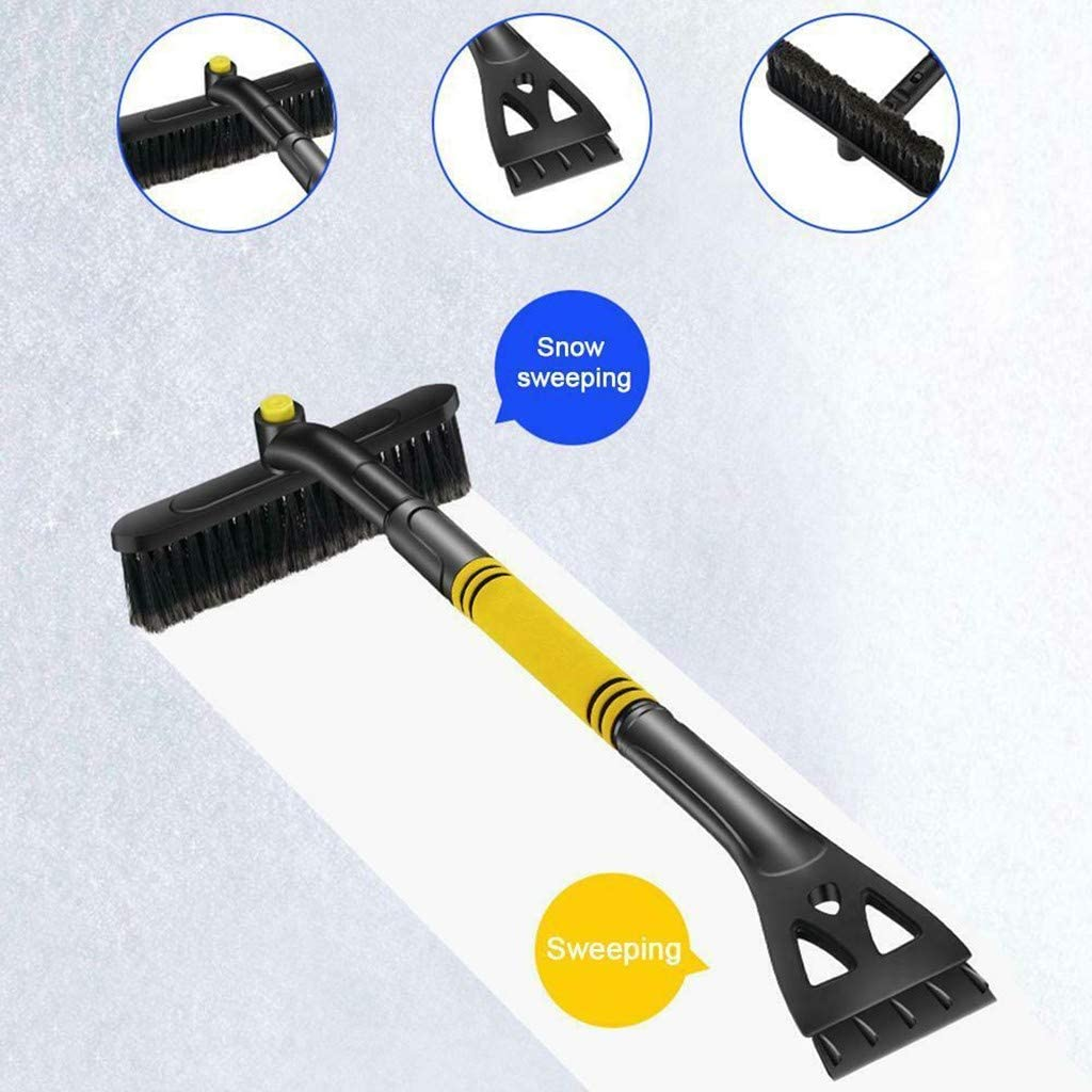 3-In-1 Telescopic Detachable Car Snow Brush Snow Removal Shovel Telescoping Defrosting Scraping For Car Windshield And Window Blue 12shage Extendable Car Snow Brush And Ice Scraper With Soft Grip
