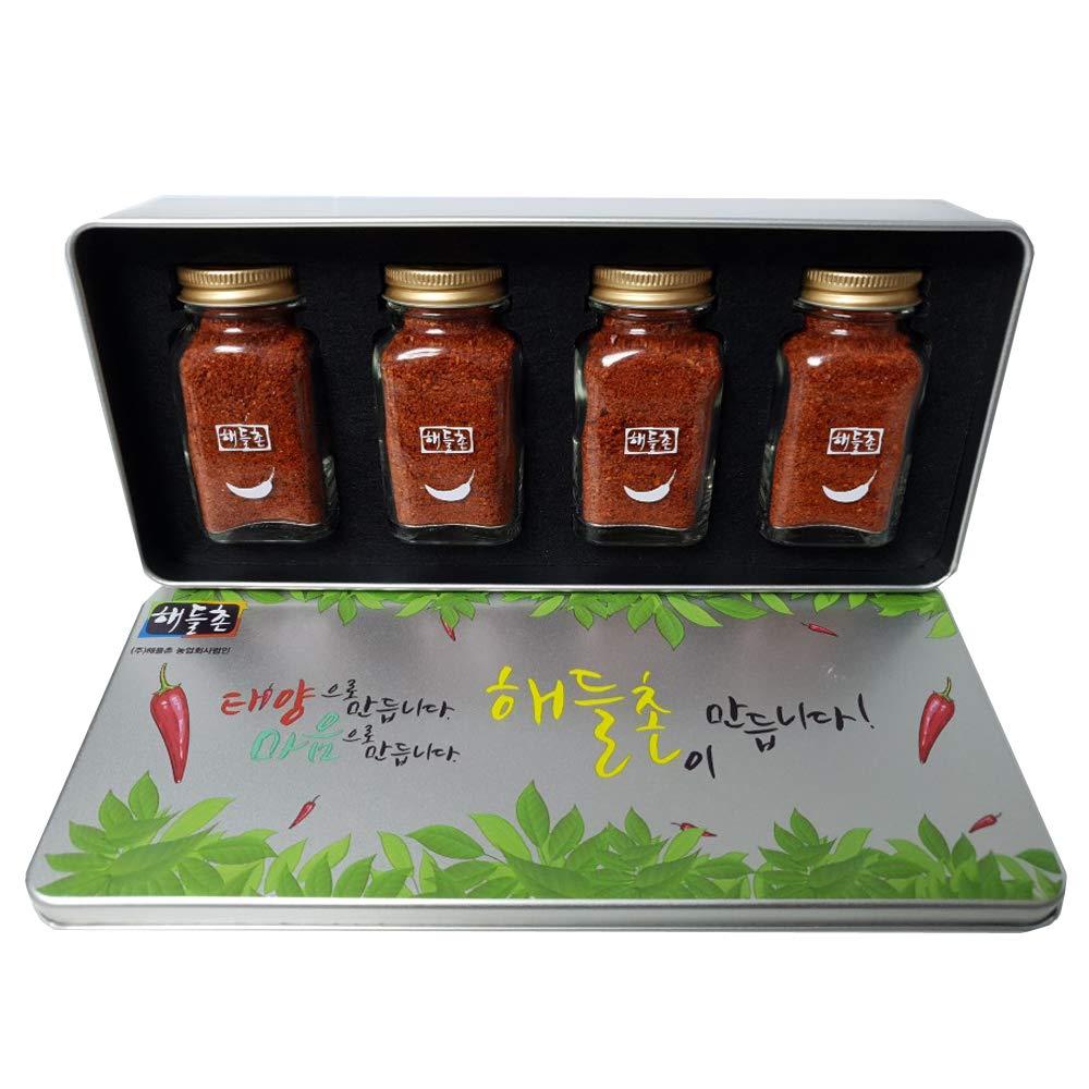 Korean Red Chili Flakes Powder - 50g x 4 bottles Medium Hot Halal Kfoods Gochugaru [태양초 고춧가루]