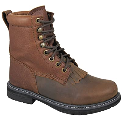 Smoky Mountain Boys' Panther Lace-Up Leather Boot Round Toe Brown 1.5 D(M) US
