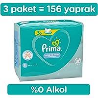 Prima Islak Havlu Mendil Temiz ve Ferah 3'lü 156 Yaprak Fırsat Paketi