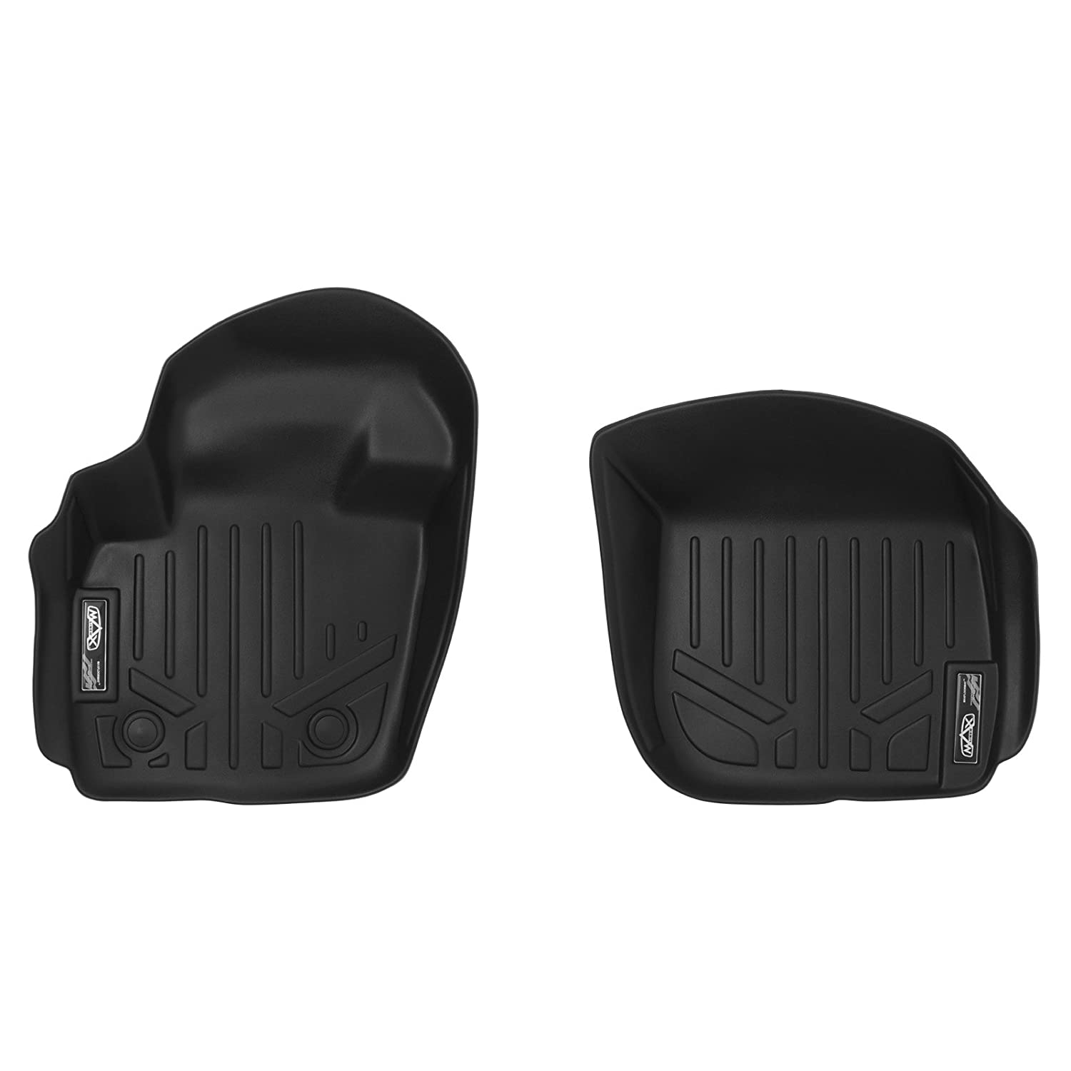 MAXLINER A0133 Floor Mats for Ford Fusion/Lincoln MKZ, 2013-2017 1st Row Set, Black