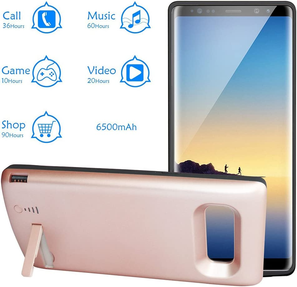 PinShang Battery Case 6500mAh Rechargeable Extended Battery Charging Case for Samsung Galaxy Note 8