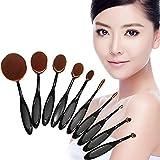 Romote Soft Brushes Set 10pcs Toothbrush Shaped Foundation Power Makeup Oval Cream Puff Brushes Set