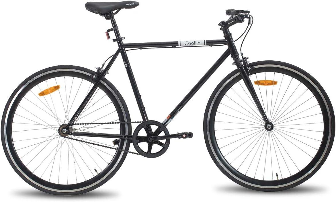 Hiland Road Hybrid Bike 700C Wheels with Single-Speed