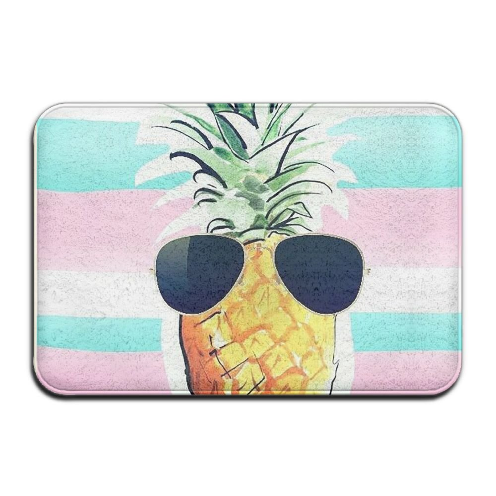 BINGO BAG Home Sweet Home Pineapple Indoor Outdoor Entrance Printed Rug Floor Mats Shoe Scraper Doormat For Bathroom, Kitchen, Balcony, Etc 16 X 24 Inch by BINGO BAG
