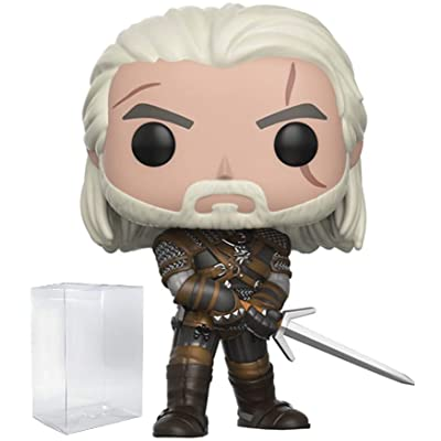 Funko Pop! Games: The Witcher - Geralt Vinyl Figure (Includes Compatible Pop Box Protector Case): Toys & Games