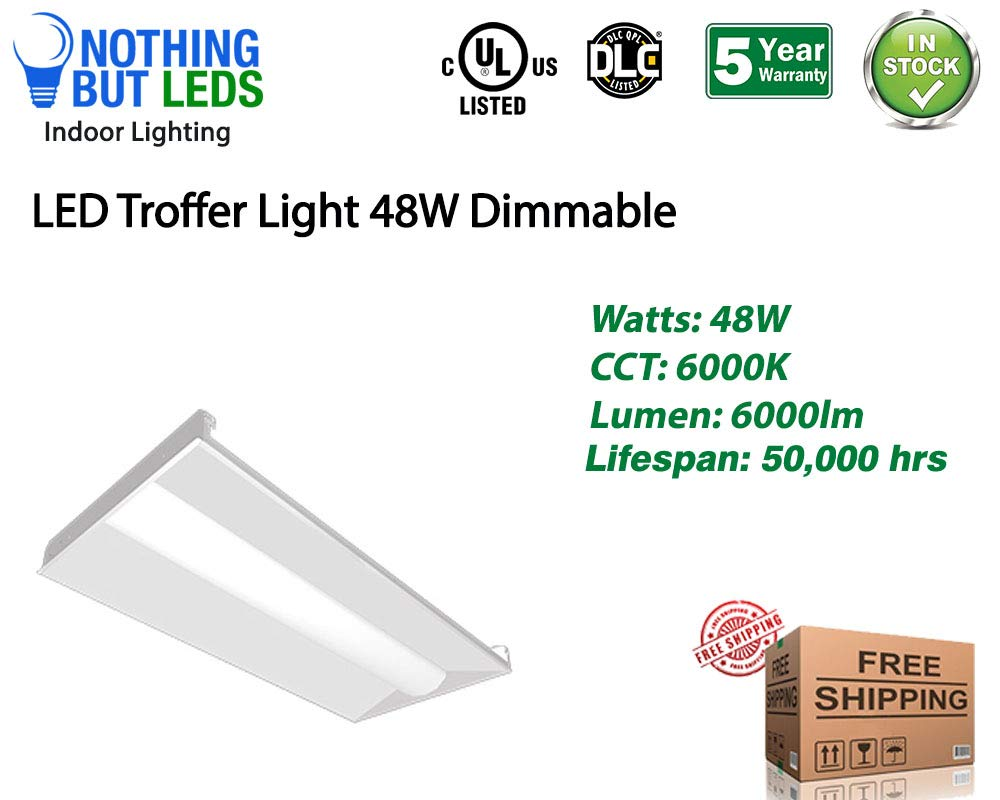 Beyond LED 150827 Dimmable 48W LED Troffer Light, 2 x 4''