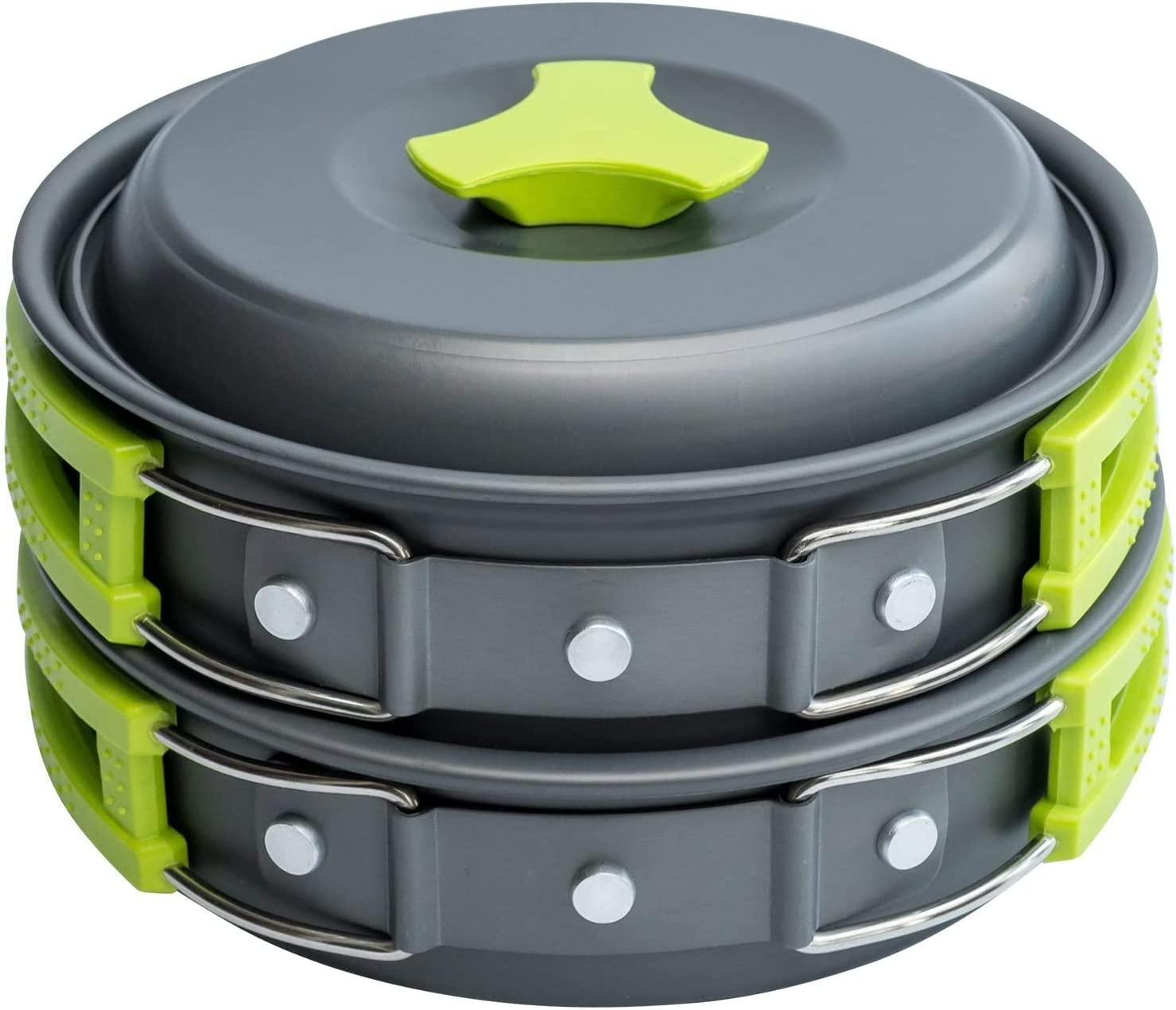 Camping pan Survival Cooking kit - Backpacking Cooking Set with Camp pots and Pans, Great Backpacking cookware and Camp Mess kit. Portable Outdoors 10-Piece Bug Out Backpack Accessories by Aim Goods.