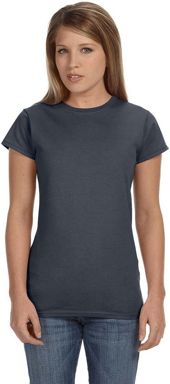 S Gildan G640L Ladies 4.5 oz SoftStyle Ringspun T-Shirt Dark Heather