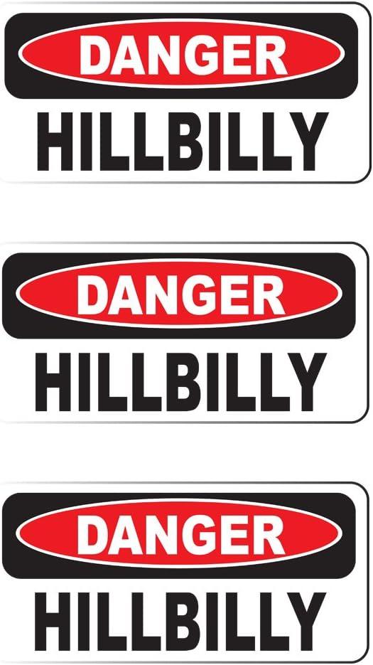 """DANGER HMFIC 3 Pack size: 2/"""" x 1/"""" HardHat Sticker Printed Sticker"""