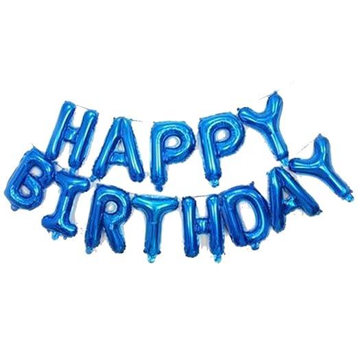 Doitsa Globos de cumpleaños Feliz de Letras Pancarta Happy ...