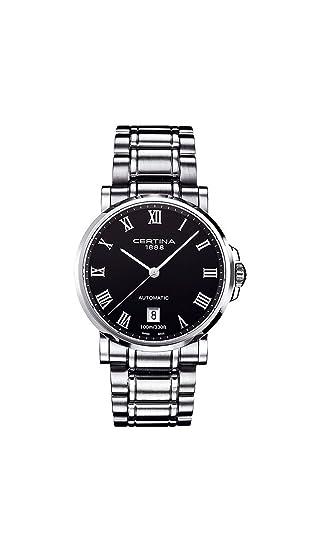 Certina 0 - Reloj de automático para hombre, con correa de acero inoxidable, color plateado: Amazon.es: Relojes