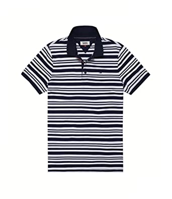 Tommy Hilfiger Polo 002 Tjm Essential Stripe Polo: Amazon.es: Ropa ...