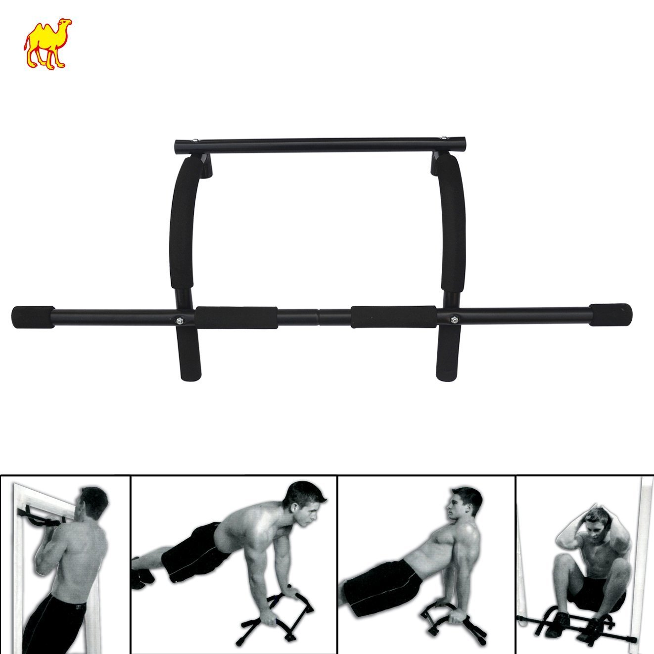 BenefitUSA Heavy-Duty Easy Xtreme Gym Doorway Push-Up/Pull-Up Bar