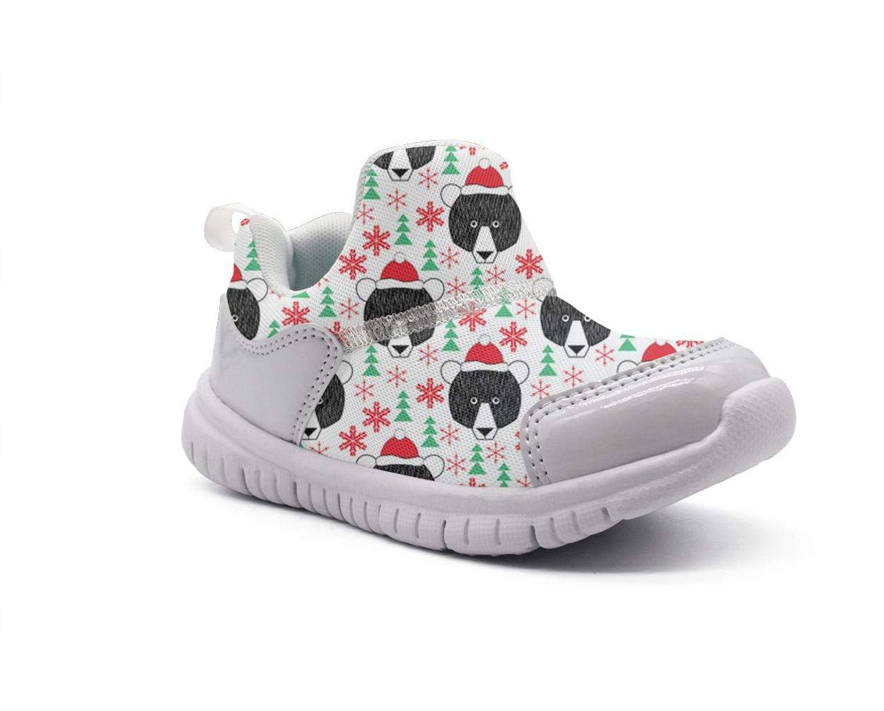 ONEYUAN Children Christmas Bears with red hat Kid Casual Lightweight Sport Shoes Sneakers Walking Athletic Shoes