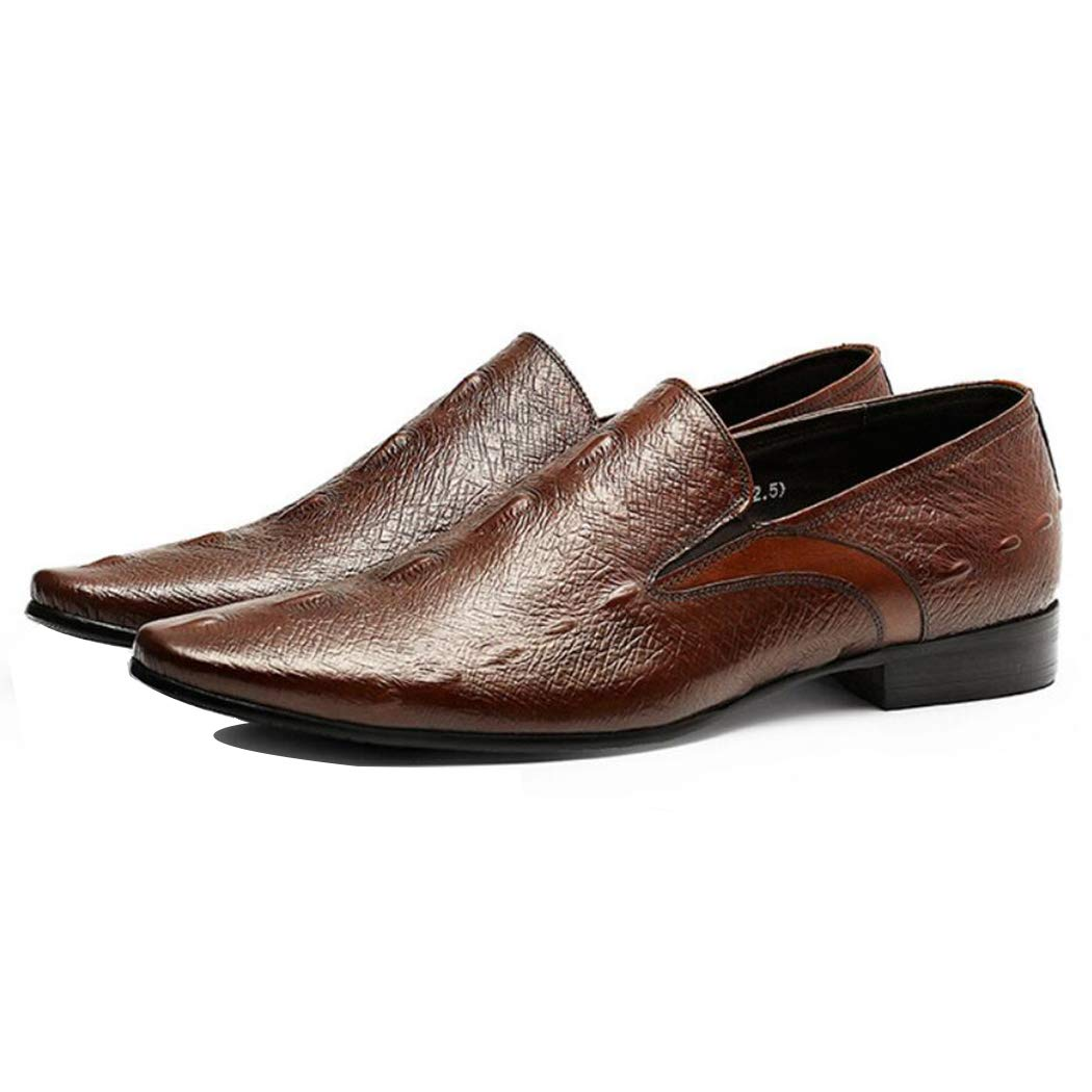 marron LYMYY Hommes Chaussures en en Cuir De Haute Qualité Modèle De Poissons Chaussures Homme Mode De La Jeunesse Sauvage Chaussures d'affaires, Approprié Le Travail Party Public-Cadeaux Les Hommes