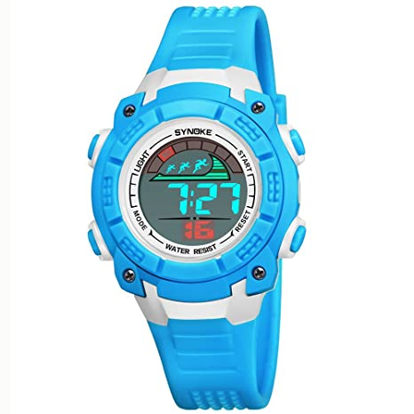 WMWMY Mens Sports Watch 50 medidor LED Impermeable Reloj Digital Doble Impacto Watch Watch Tiempo Don