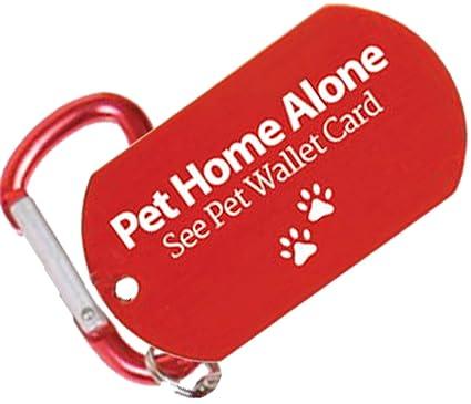Amazon.com: Mascota Perro ID Tag y tarjetero de emergencia ...