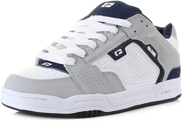 White Navy Skate Shoes Trainers Size